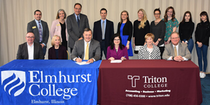 Triton College and Elmhurst College Create Transfer Agreement for Business and Accounting Students