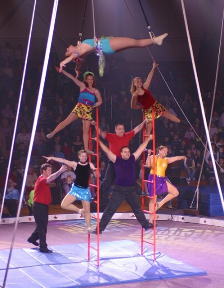 Performers at the Triton Troupers Circus