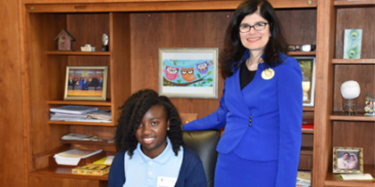 Stevenson Middle School 7th Grader Selected to Serve as Triton's President for a Day